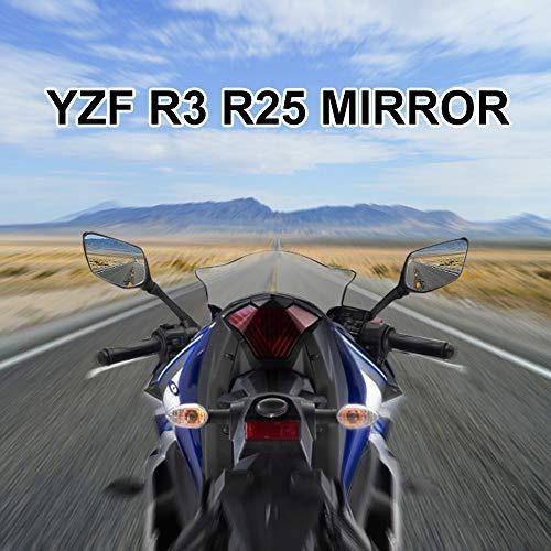 kemimoto r3 - espejos retrovisores para motocicleta yamaha y