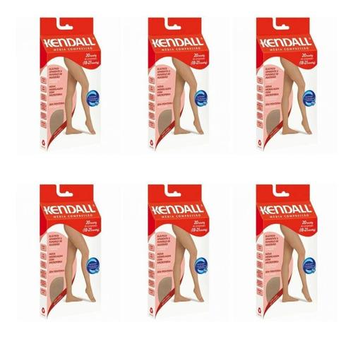 kendall 1632 meia calça média compressão mel m (kit c/06)