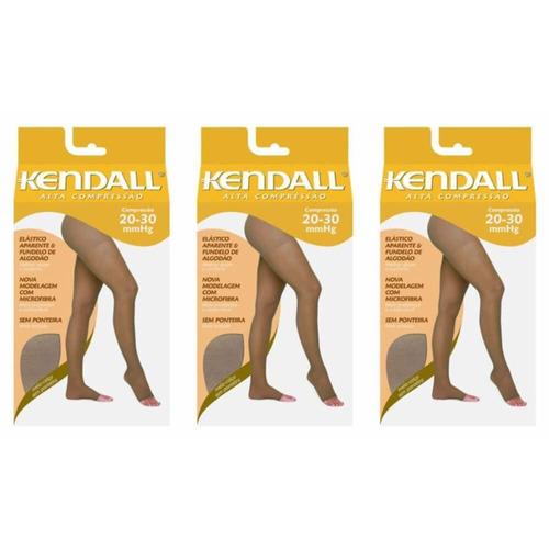 kendall 1893 meia calça alta comp s/ pont mel g (kit c/03)