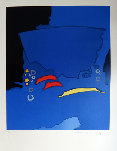 kenji fukuda - deep blue - serigrafia comp. em azul - linda!