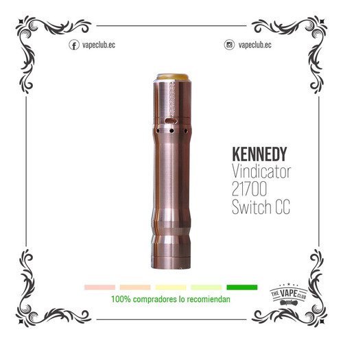 kennedy vindicator 21700 cc vape - cigarrillo electronico