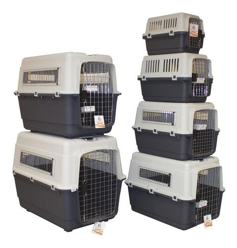 kennel transportador l61 para avión o carro / perros o gatos