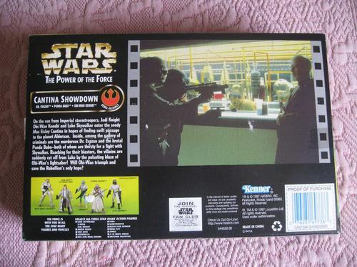 kenner 1997 star wars tpotf cantina showdown 3 figuras scene