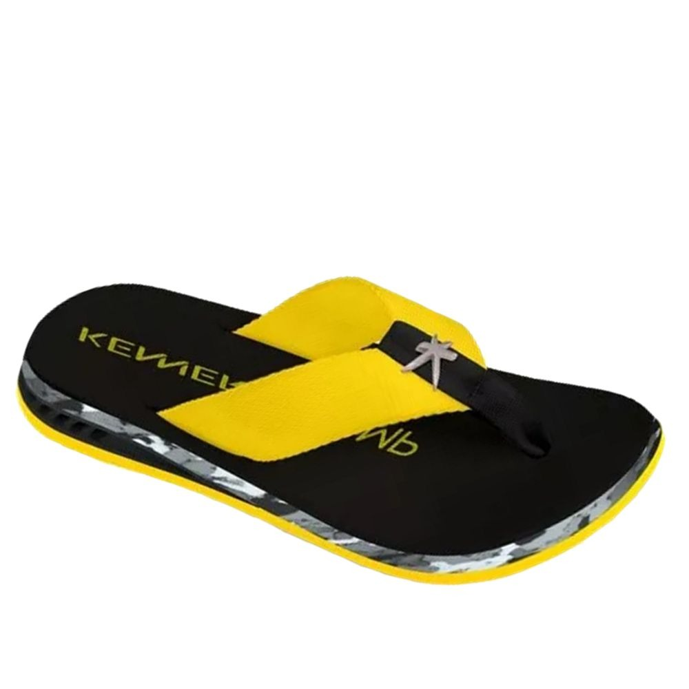 dae7d148c Chinelo Kenner Nk5 Flakes Masculino Amarelo 008340 - R  160
