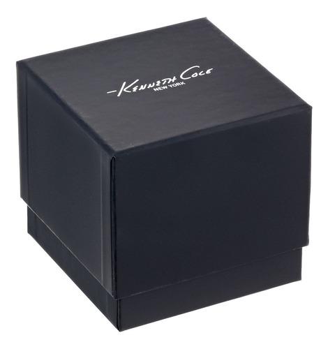 kenneth cole new york reloj de vestir de cuero y acero inoxi
