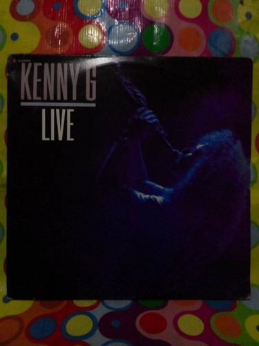 kenny g. lp live 1989. album doble. se abre.