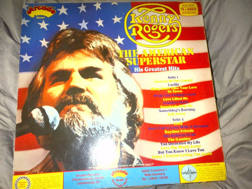 kenny rogers - the american superstar vinyl