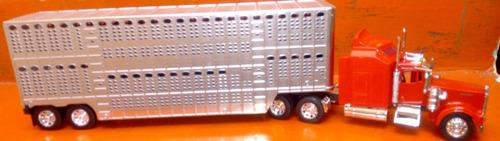kenworth trailer ganadero escala 1:24 coleccion envio gratis