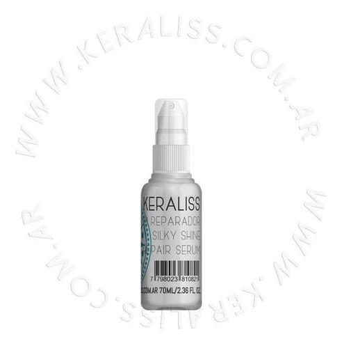 keraliss serum reparador silky shine, protege y sella puntas