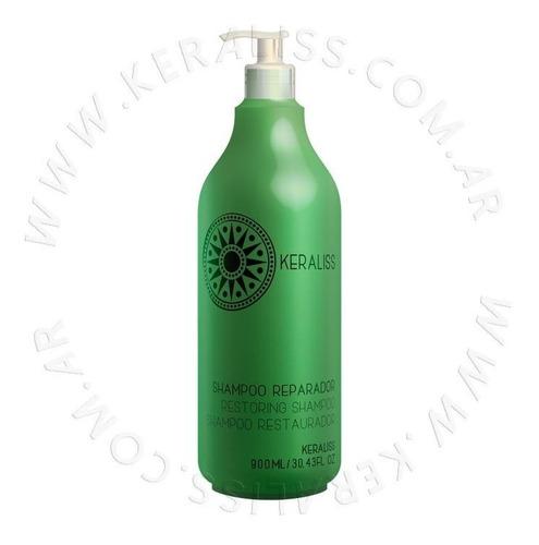 keraliss shampoo reparador con aceite de coco 900 ml