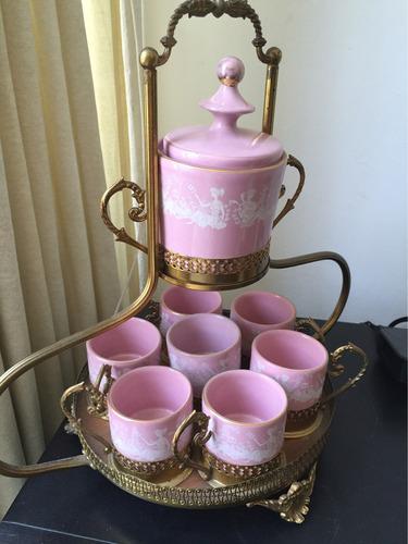 keramos capodimonte conjunto de tazas de porcelana italiana