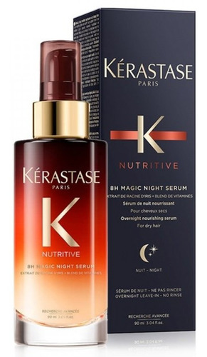 kerastase 8h magic night serum nutritivo pelo seco 90ml