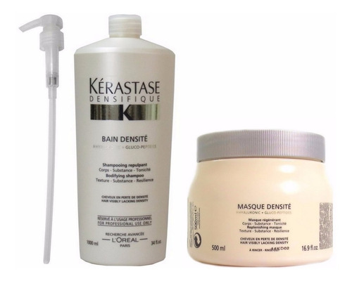 kérastase densifique - shamp bain densité 1l e máscara 500ml
