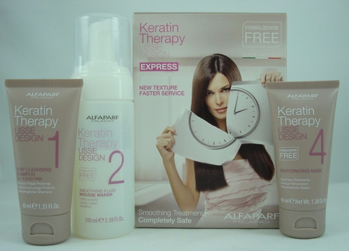 keratina alfaparf sin formol kit 3 productos 100 ml