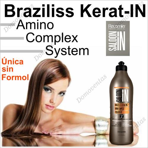 keratina alisadora braziliss recamier litro paso 2