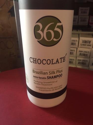 keratina brasileña 365 chocolaté reparación y alaciado 1 lt.