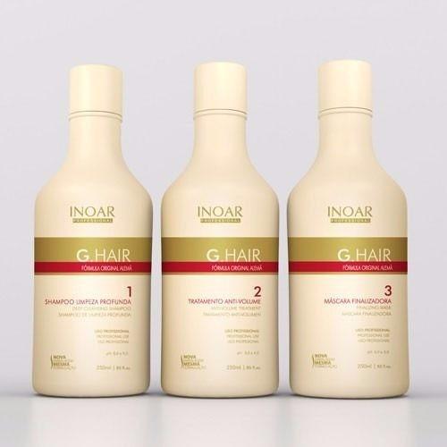 keratina brasileña inoar g-hair 250 ml (paso 1, 2, 3)