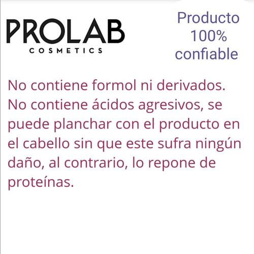 keratina y proteína alisadora restore plus prolab