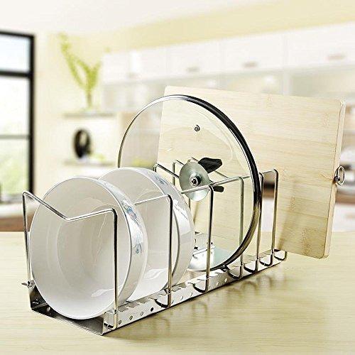 Kes acero inoxidable estante para platos de cocina pan pot - Rack para platos ...