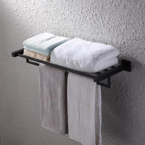 kes baño estantería toalla estante con la toalla bar pared