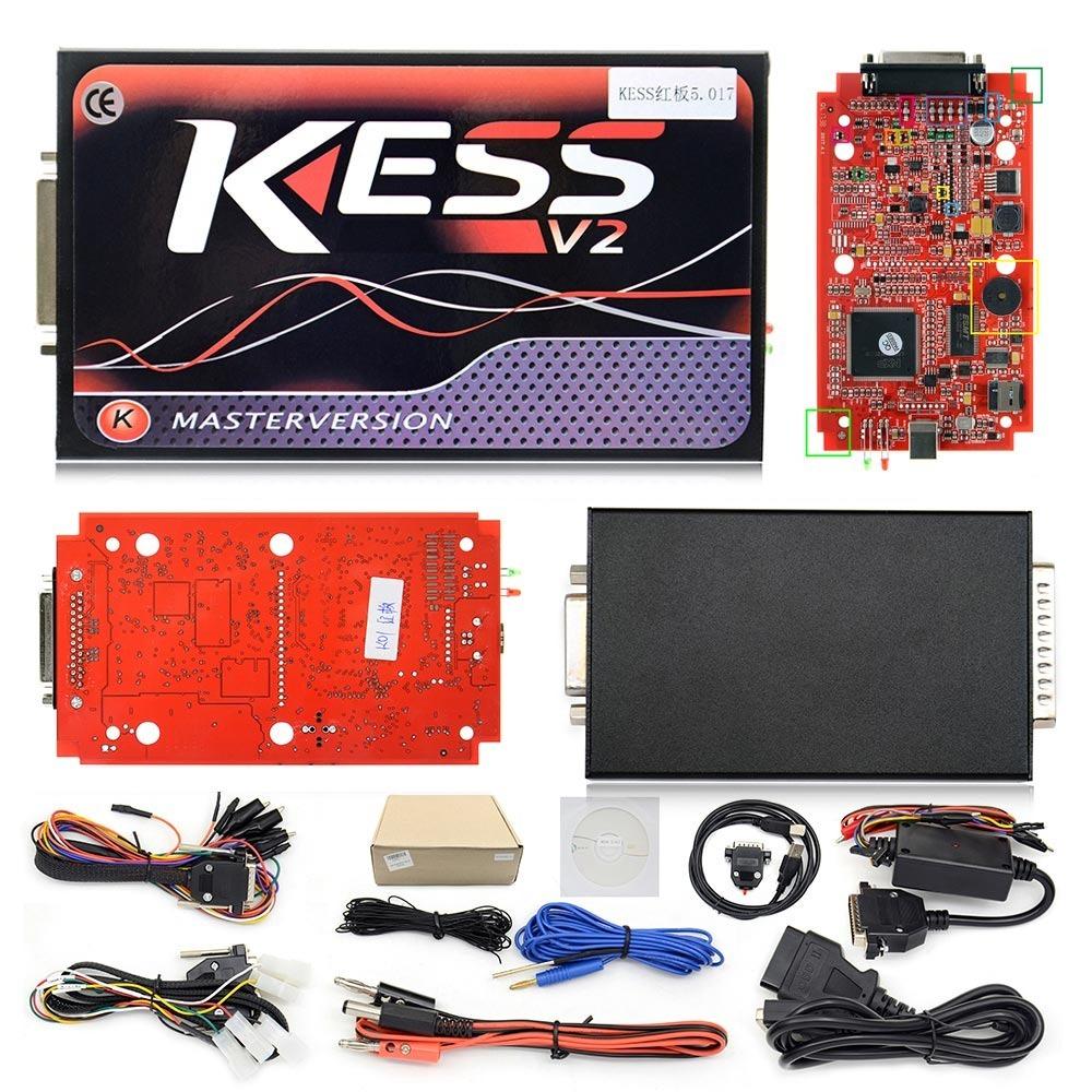 Kess V2 Placa Vermelho Fw 5 017 + Versão Mais Atual V2 47