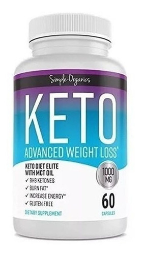 keto advance 1000mg 60cápsulas - unidad a $1000