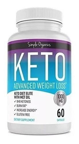 keto advance 1000mg 60cápsulas - unidad a $833