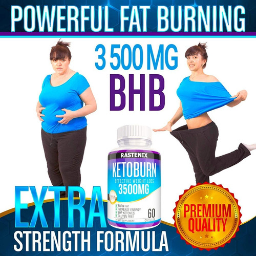 keto burn 3500mg original y potente de 60cap/ guía digital