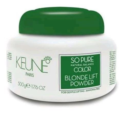 keune pó descolorante sem amônia clareia até 7 tons 500g