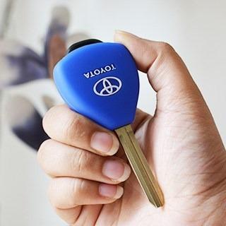 key cover llave / protector llavero silicona toyota.x unid.