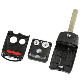 Key Fob Keyless Entry Remote Flip Shell Case /& Pad fits Mercedes