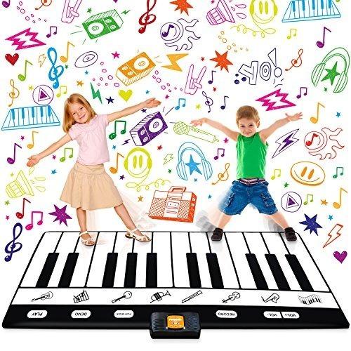 keyboard playmat 71 - 24 keys piano play mat - piano mat tie