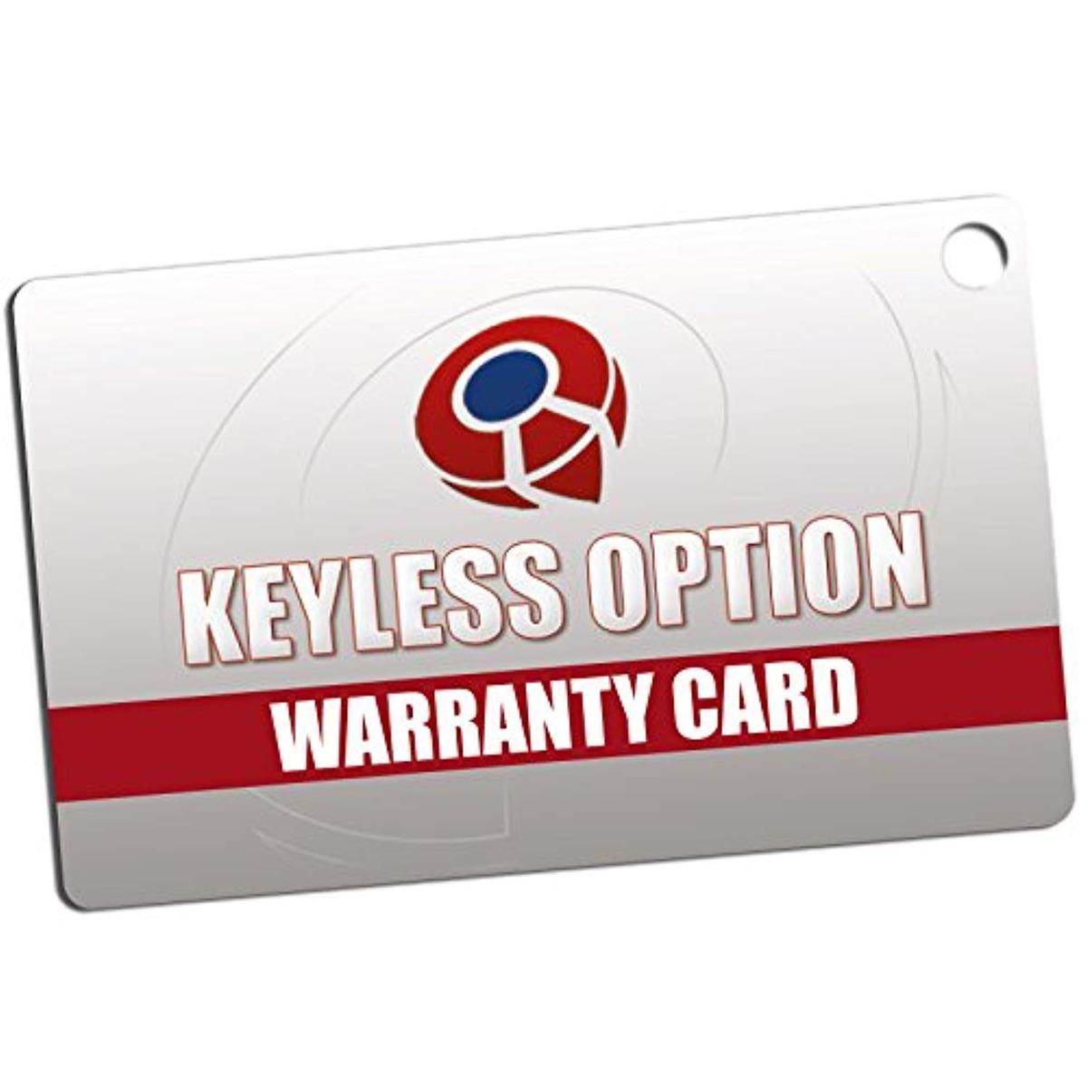 Blue KeylessOption Keyless Entry Remote Control Car Key Fob Replacement for 15912860