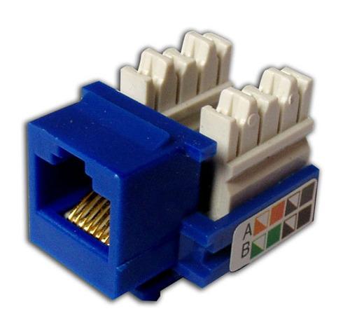 keystone jack cat 5e rj45-110 blue /coupler hembra rj45 azul