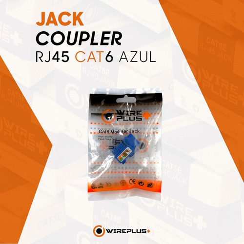 keystone jack coupler rj45 cat6 inserto hembra wireplus