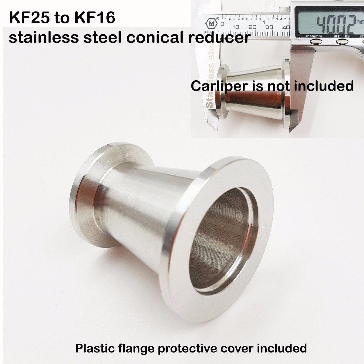 Venta De Estados Unidos cónica Reductor KF-25 a KF-16 adaptador de vacío BRIDA De Acero Inoxidable