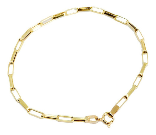 kgshop joia pulseira masculina ouro 18k elos de 18 cm
