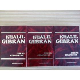 Khalil Gibran 3 Tomos Obras Completas.