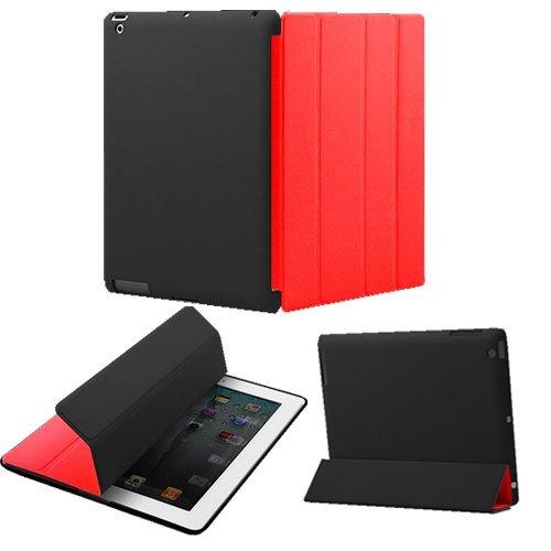 khomo ® dual negro / rojo front poliuretano funda smart + d