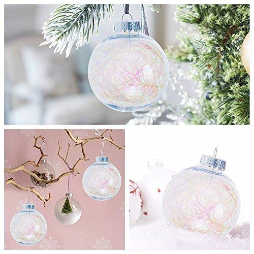Ki Almacenar Ornamento De Bolas De Navidad Transparente A Pr - Bolas-de-navidad-transparentes