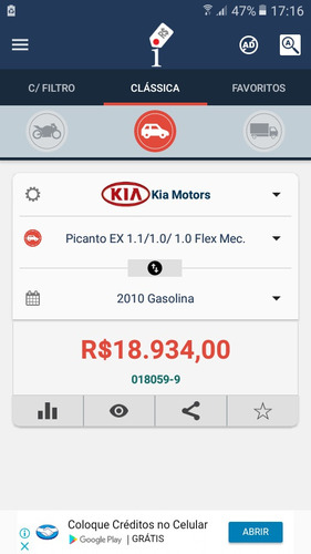 kia picanto 1.0 manual  2010/2011 completo de tudo