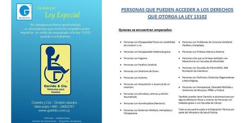 kia picanto aut. para personas con discapacidad. ley 13102