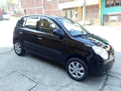kia picanto morniing, modelo 2010, negro, 1100 cc, 5 puertas