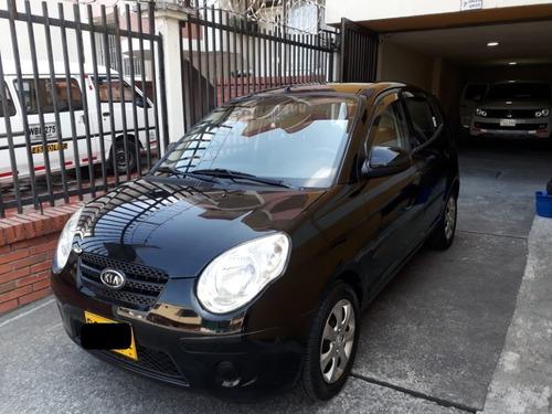 kia picanto morning, modelo 2010, negro, 1100 cc, 5 puertas