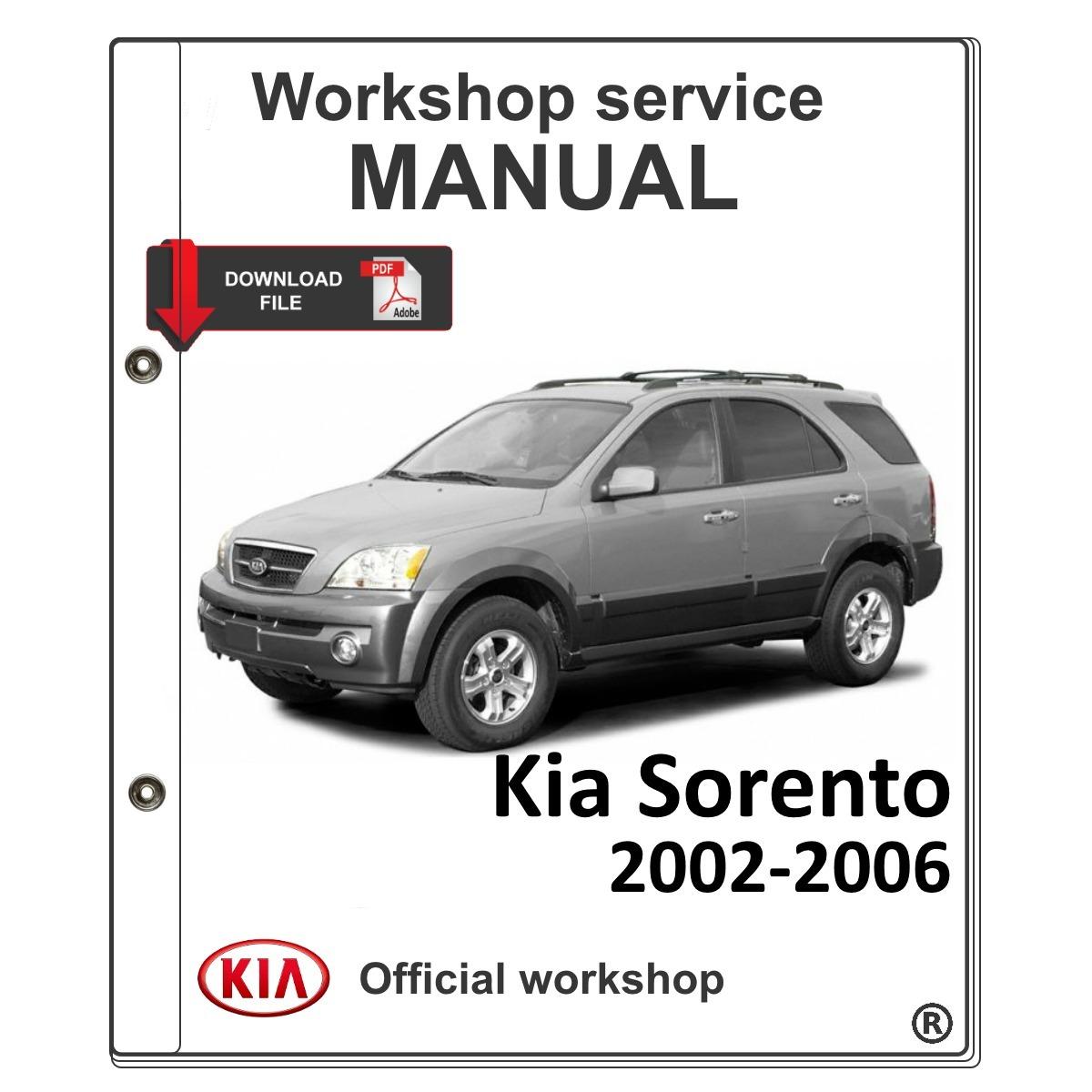 kia sorento 2002 2006 manual de taller de servicio manual re s 30 rh articulo mercadolibre com pe manual de kia sorento 2003 manual de kia sorento 2004 en español