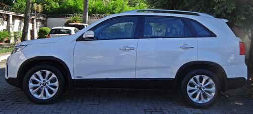 kia sorento 3.5 ex 7l aut. c/ teto solar. branco 2014/15