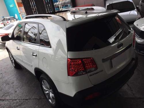 kia sorento 3.5 v6 ex 7l 4x4 aut. 5p 2012 branco c/bege