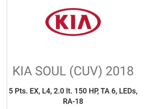 kia soul ex 2018, 65000km