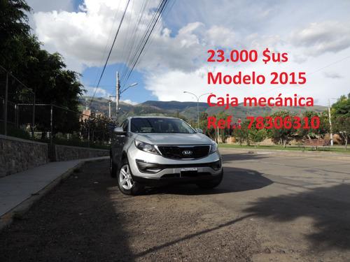 kia sportage 2.000 c.c. modelo 2015 4x2 manual