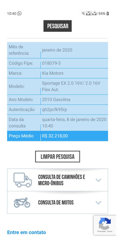 kia sportage ex 2.0 16v automatic